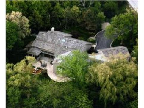 Aerial View of 4 Bedroom Contemporary Home and Surrounding Property Adjacen to Forest Preserve